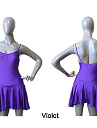 Nylon/Lycra Camisole Dance Leotard with Asymmetrical Skirts More Colors for Girls and Ladies