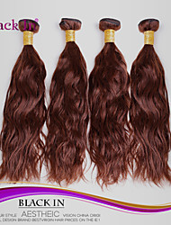 "4 Pcs Lot 12""-30"" Brazilian Natural Wave Virgin Hair Wefts Unprocessed Chocolate Brown Human Hair Weave  Tangle Free"