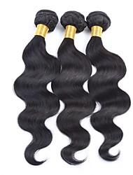 3pcs viel unverarbeitete brasilianische reine Haarkörperwelle Menschenhaar spinnt / Weben