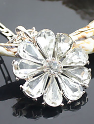 Women's Fashion Style Alloy material With Diamond Flower Pattern  Necklace