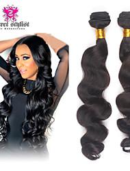 3pcs / lot cabelo virgem 8-26''6a onda solta malaio # 1b do cabelo não processado tece feixes de cabelo macio