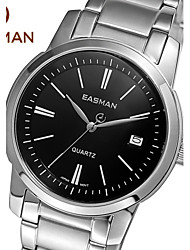 EASMAn Brand Wristwatch Men Watches Fashion Casual Calendar Watch 2015 New Stainless Black Man Quartz Watch For Mens