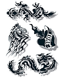 GOODTURN Tattoo Stickers Non Toxic/Lower Back/Waterproof Others /Teen Multicolored Paper 1 21*15 Punk