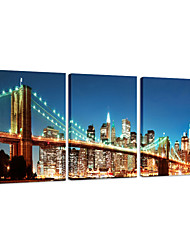 VISUAL STAR®NYC Brooklyn Bridge Giclee Canvas Print Wall Hanging Picture