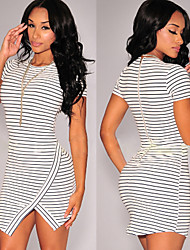 Xingyu Women'S Sexy Tight Stripe Dress