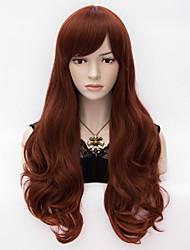 Long Layered  Natural Wave Synthetic Heat Resistant  Side Bang Hair  Charming Wig