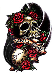 1Pcs Beauty Sexy Skull Tattoo Waterproof Temporary Body Art Tattoo Sticker