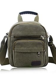 Men 's Canvas Baguette Shoulder Bag - Blue/Green/Black