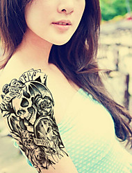 2015 Latest Version High Quality Creative Fashion Waterproof One-Time Tattoo Stickers ——Rose Skeleton