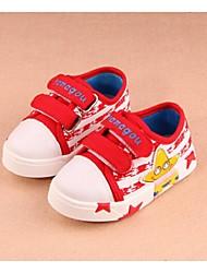 Baby Shoes - Casual - Sneakers alla moda - Di corda - Nero / Rosso