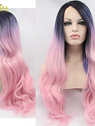 2015 New Style Beauty Stock Cheap Pink Synthetic Hair Lace Front Wig
