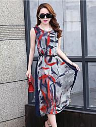 Chinanuo Women's Chiffon Midi Sleeveless Dress , Chiffon