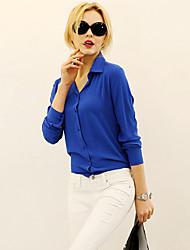 Women's Blue/Red/Black Shirt Long Sleeve