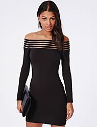Vestidos ( Negro , Spandex/Licra , Ropa de Noche ) - Ropa de Noche - para Mujer