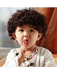 Children's Short Curly Hair Wig Head Explosion