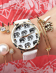New Ladies Fashion  Watch Students Wrist Watch Quartz Watch Women Watch Elephant Watch