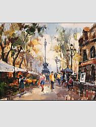 pintura a óleo paisagem moderna, material de lona, com quadro esticado pronto para pendurar tamanho: 60 * 90 centímetros.