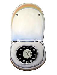 PAG®Modern Design 3D Effect Toilet Pattern Clock Sticker 14.96*28.26 in