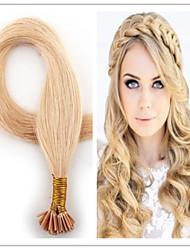 i Spitze Keratin Haarverlängerungen vor verbundenes Haar 100 Stränge unverarbeitete reine Haar