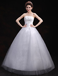 Ball Gown Wedding Dress Floor-length Strapless Tulle with