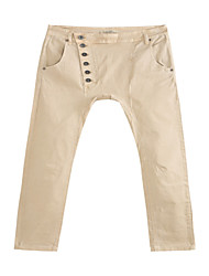 Women's Khaki Regular Fitting Casual Pants
