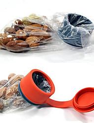 sac de forme ronde boucle bouchon cuisine couvercle alimentaire d'étanchéité (couleur aléatoire)