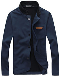 H2o Men's Stand Coats & Jackets , Cotton Blend Long Sleeve Casual