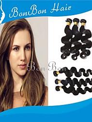 Tecelagem peruana cabelo 4pcs onda corpo humano