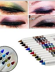 12 pcs durable de crayon eyeliner professionnel de 24 heures imperméable liquide coloré