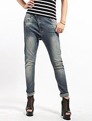 Women's Special Curve Zipper Fly Baggy Jeans