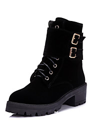Women's Boots Fall / Winter Heels / Riding Boots / Fashion Boots / Comfort / Combat Boots / Round ToePatent Leather /