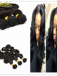 3pcs / lot 100% não transformados Seashine virgem do cabelo humano tecer produtos brasileiros grau onda do corpo 8a remy trama
