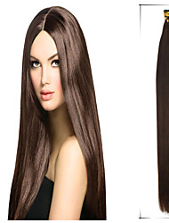 "1Pc/Lot 20""-24"" 1g/s Maxim Volume Brazilian Virgin Hair Straight  Keratin Stick Tip Hair Permanent Hair Extensions"