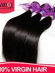 "3 Pcs Lot 8""-28"" Peruvian Virgin Hair Straight Natural Black Human Hair Weave Bundles Shed & Tangle Free Hair Extensions"