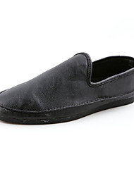 Men's Shoes Outdoor / Casual Nappa Leather Loafers Black / Yellow / White