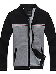 Men's Long Sleeve Jacket , Microfiber Casual/Work/Formal Print