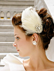 Hand Made Wedding Feather Hair Clip Fascinator Headpieces Fascinators 037