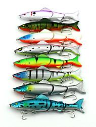iscas de pesca rígidos 8 pcs três-seção minnow flutuante 125 milímetros 17,7 g