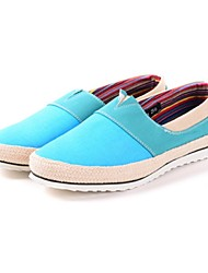 Men's Shoes Outdoor/Casual Linen/Fabric Loafers Blue