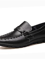 Zapatos de Hombre Boda/Oficina y Trabajo/Fiesta y Noche Cuero Oxfords Negro/Azul/Marrón/Amarillo
