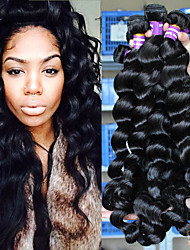 6A Unprocessed Peruvian Virgin Hair Loose Wave 3pcs Lot Human Hair Extensions Natural Black Hair Weaves