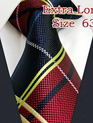 """uxl21 shlax&alas rojas lazos corbata azul de moda a cuadros 63 vestido de """"tamaño extra largo"""