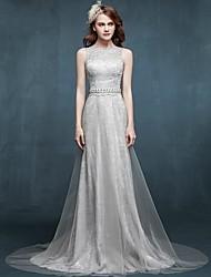 Официальное вечернее платье - элегантное кружево с кружевом и кружевом с кружевами