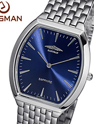 EASMAN 2015 Watch Men Brand New Hot Swit Quartz Watches Sapphire Royalblue Tonneau Men Fashion Wristwatches Watch