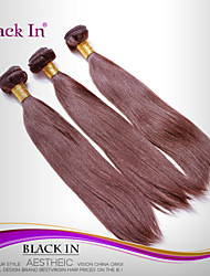 "3 Pcs Lot 12""-30"" Brazilian Silky Straight Wefts Chocolate Brown Remy Human Hair Weave Tangle Free"