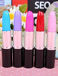 Girl Kid Cool Cute Fashion Creative Lipstick Shape Ballpoint Ball Pen Stationery(Random Color)