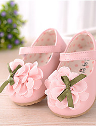 Baby Shoes Wedding/Dress/Casual Faux Leather Flats Pink