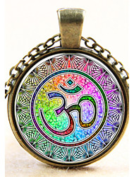 Fashion Yoga India Pendant Yoga Necklace Glass Gem Necklace Gift for Friend