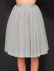 Women's All in Good Cheer Grey Tulle Skirt