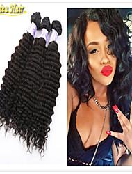 3pcs / lot a la venta el envío libre 8-32inch 3pcs paquete de la trama del pelo de profundidad en la acción del pelo humano por paquete